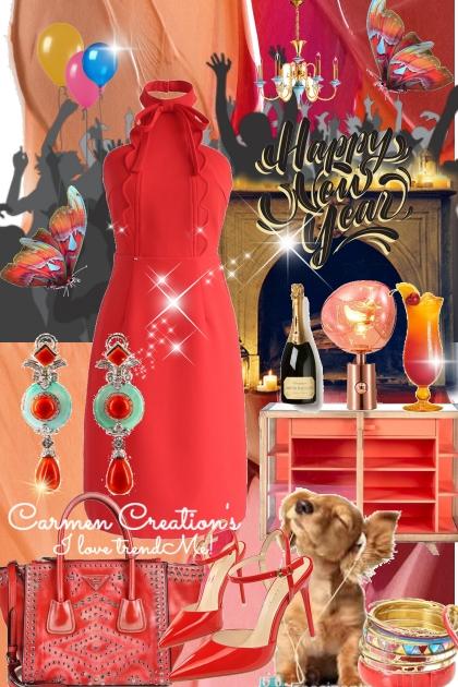 Journi's Happy New Year Celebration Outfit- Modekombination