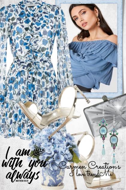 Journi's Flower Print Dress Outfit- Fashion set