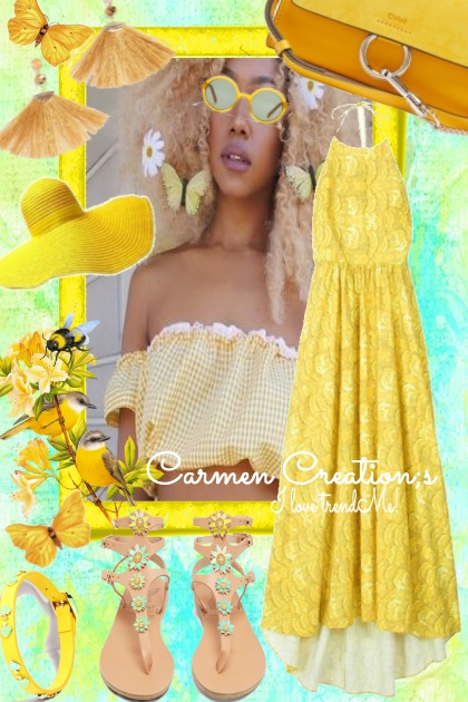 Journi's Yellow Butterfly Summer Outfit