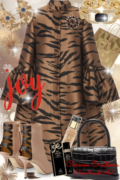 Journi's Joyful Designer Holiday Coat Outfit