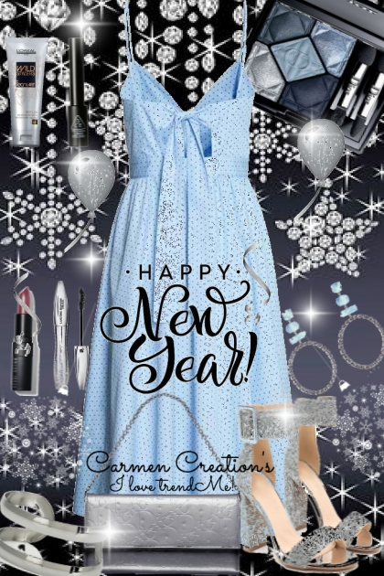 Journi's Happy New Year! Blue And Silver Outfit