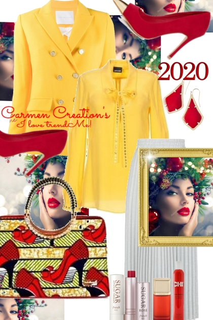 Journi's Bright Yellow New Year 2020 Work Outfit