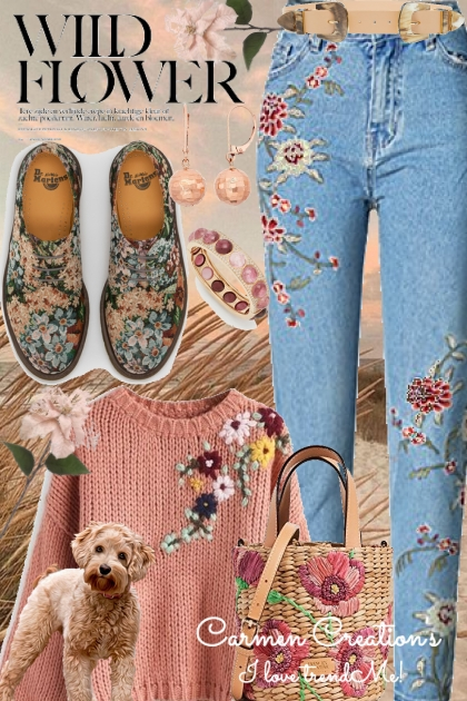 Journi's Wild Flower Winter Outfit