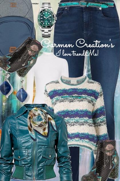 Journi's Winter Green Outfit- Fashion set