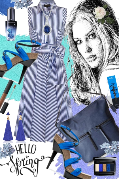 Journi's Hello Spring Blue Combo Mix Outfit