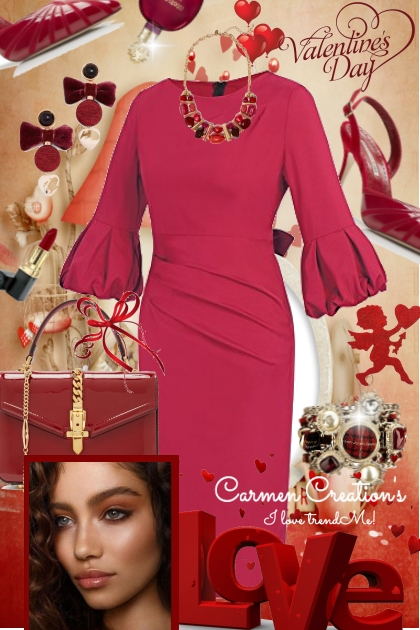 Journi Rich Red Valentine Day Outfit- Combinaciónde moda