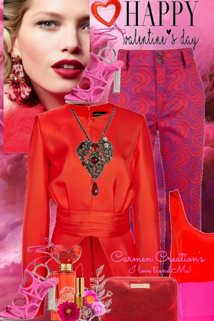 Journi Happy Valentine's Day Party Outfit- Fashion set