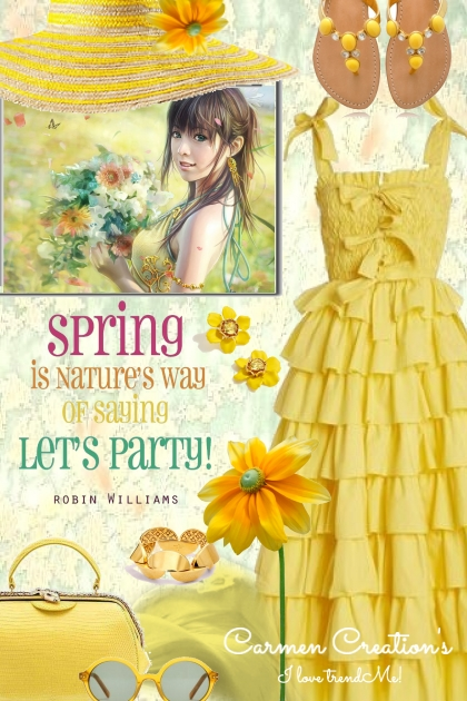 Journi Spring Lets Party Outdoors Outfit