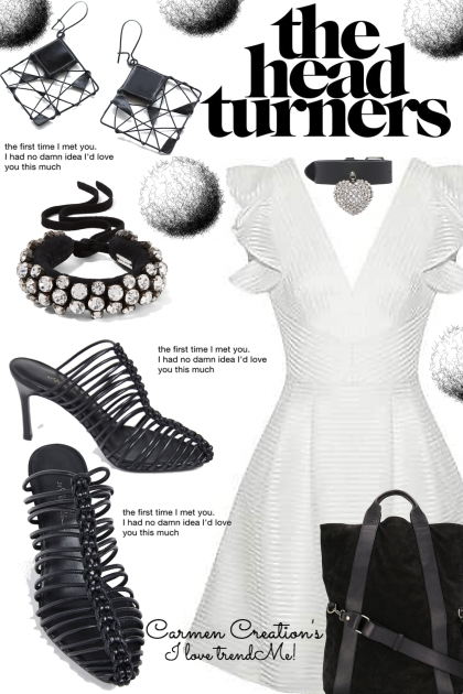 Journi Black And White Head Turners Outfit