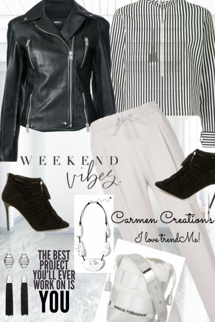 Journi  B&W Weekend VIbes Outfit