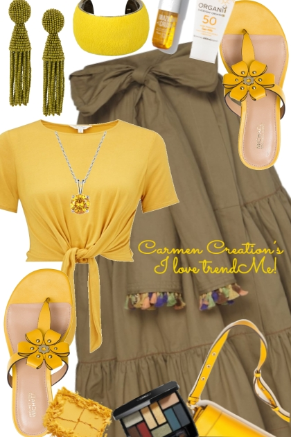 Journi Yellow Gold Summer Fun Outfit- Modna kombinacija
