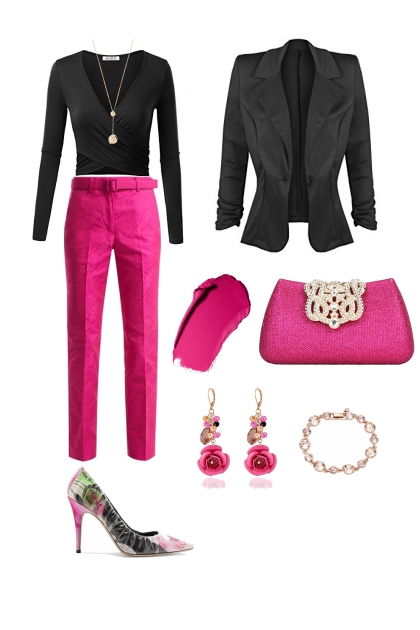 Inverted triangle lady style evening wear