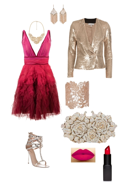 Inverted triangle glamorous evening wear