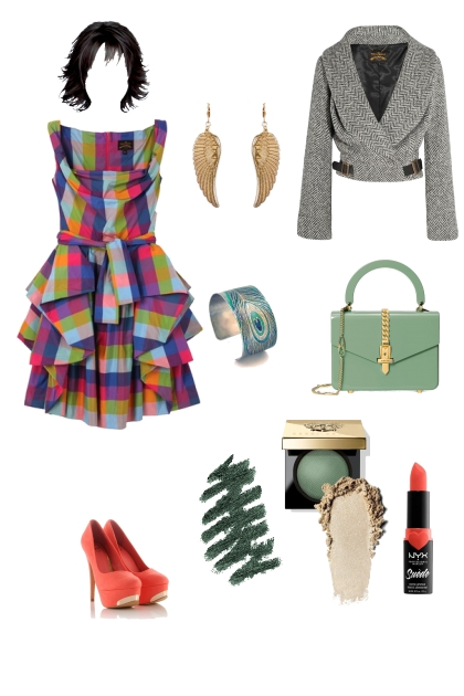 Bright spring evening wear for eccentric