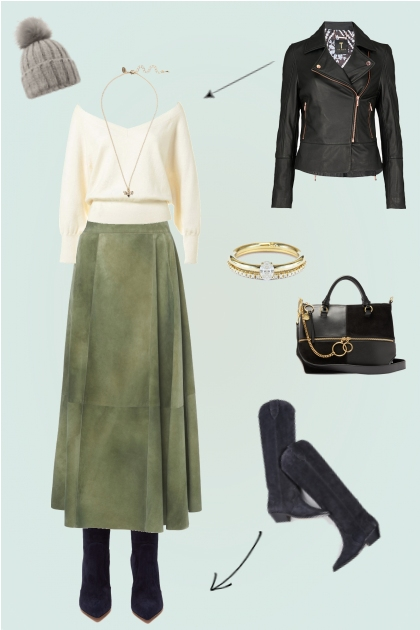 Trying to make midi skirts work in winter