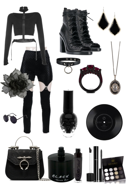 she is loves nirvana and the color black