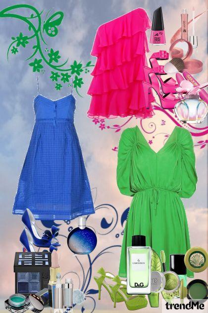 PinK,Blue & Green.:)