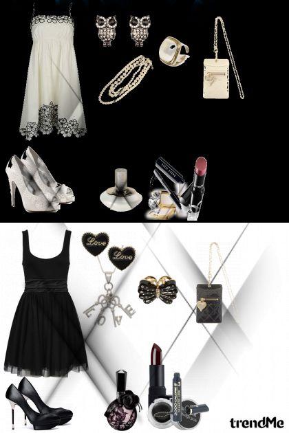 crno bijeli svijet- Fashion set