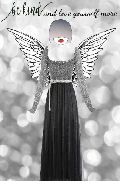 be kind and love yourself more- Combinaciónde moda