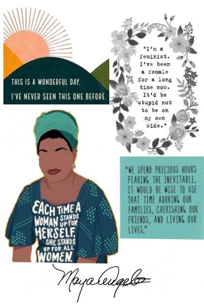 Maya Angelou - Mood Board