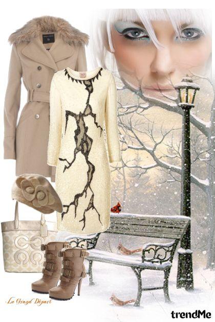 bijela zima- Modna kombinacija