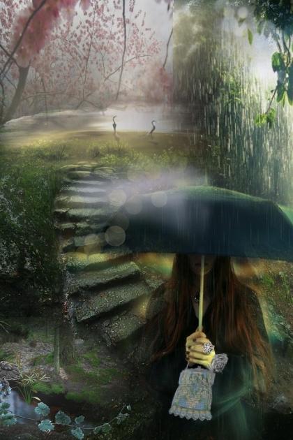 Here Comes that Rainy Day Feelin' Again- Fashion set