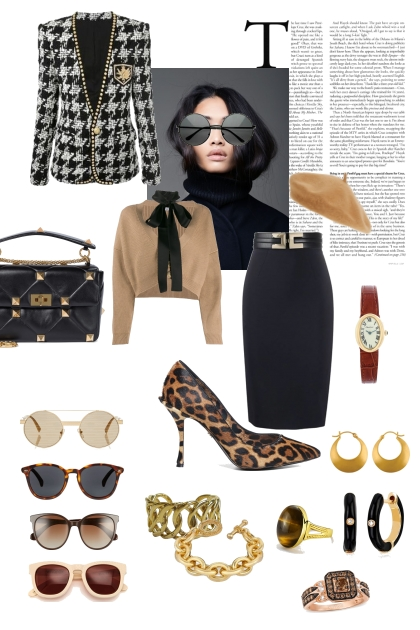 Material Girl with Sunglasses