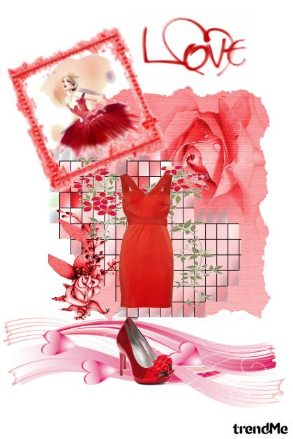 red is color of love from collection Proljeće/Ljeto 2011 by ivana ravlić