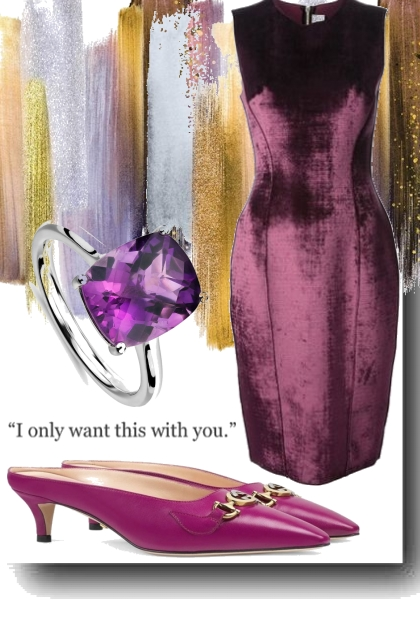 Enigmatic purple and always desired.
