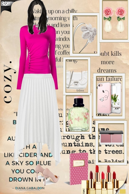 розовое и белое