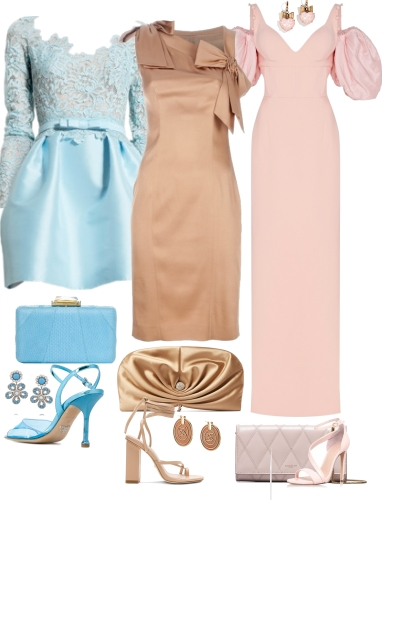 Pastel GLamour Outfits- Fashion set