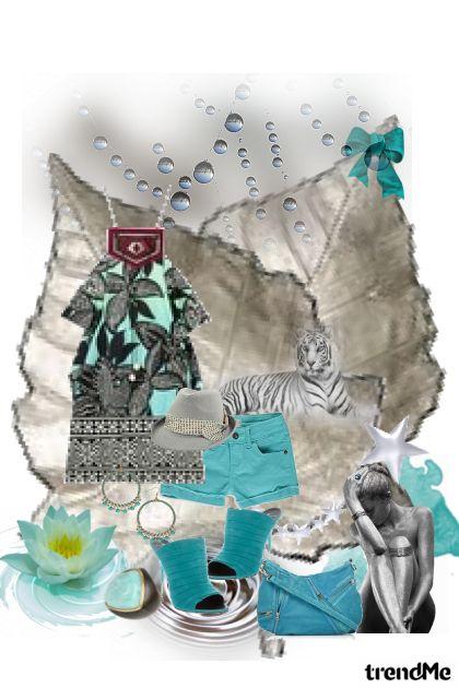 Silver-blue fantasy