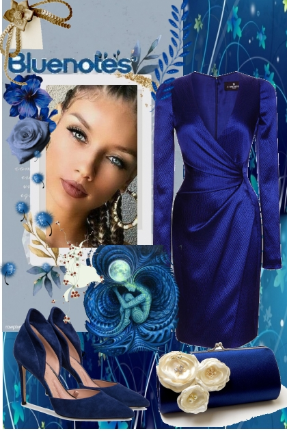 blue elegance- Fashion set