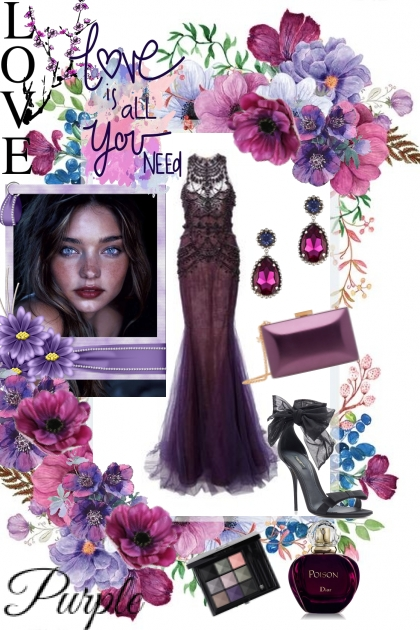 Love purple- Fashion set