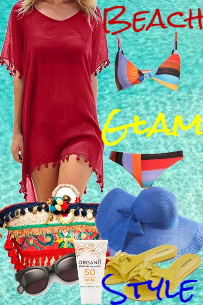 Beach glam style