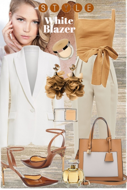 White blazer style