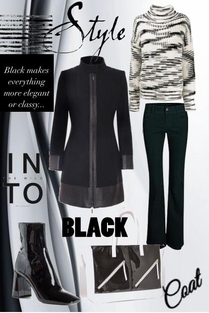 Black coat style