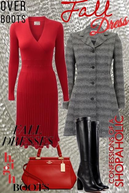 fall wool dress