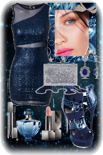 cocktail blue dress