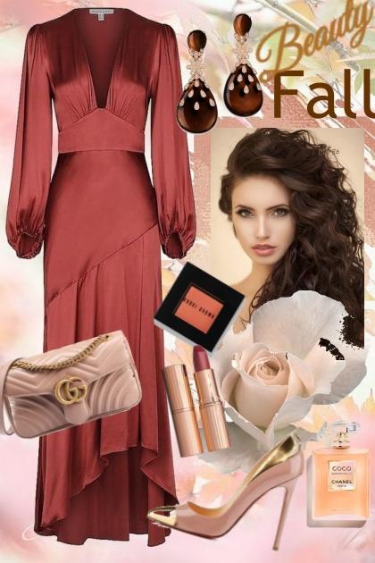 Fall silk dress