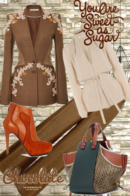 Chocolate suit