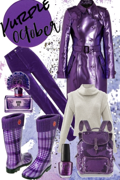 Purple october