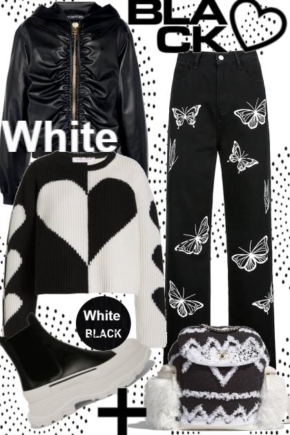 Crazy black and white