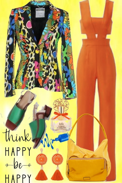 Think happy be happy- Combinaciónde moda