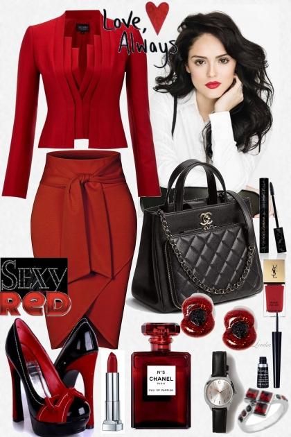 Elegant sexy red
