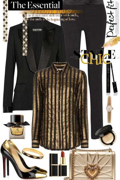 Black elegant suit