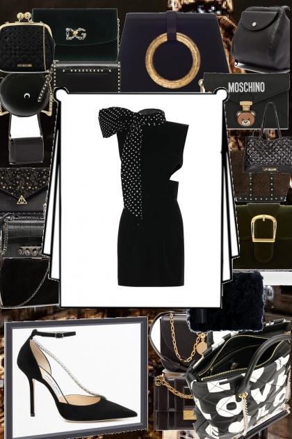 Noche de gala a negro glamour.