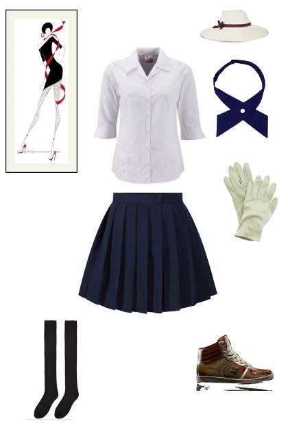 old time school uniform