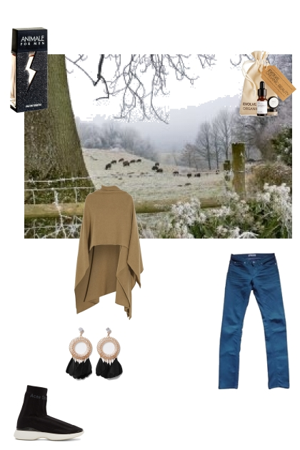 farm look with a bit of beauty and fashion