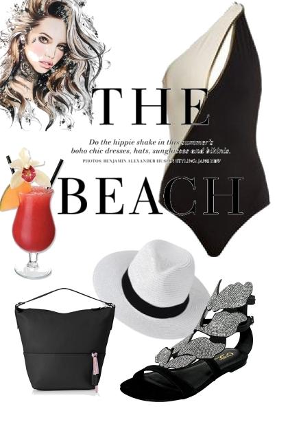 Beach glam look